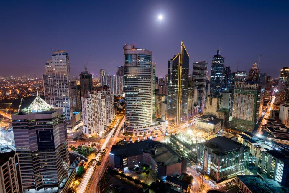 Manila at night.